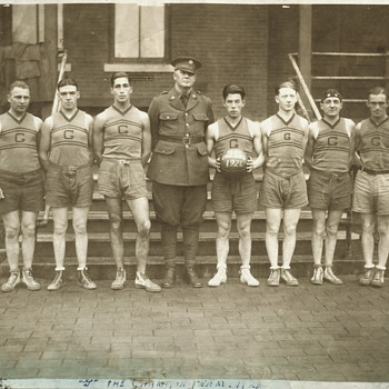 Fort George Wright, Spokane, Washington 1926 Basketball Champs - Military and Wartime