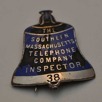 Southern Massachusetts Telephone Company Inspector's badge #38 - Telephones