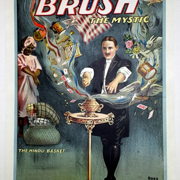 "Original Brush ""The Hindu Basket"" Stone Lithograph Poster - Posters and Prints"