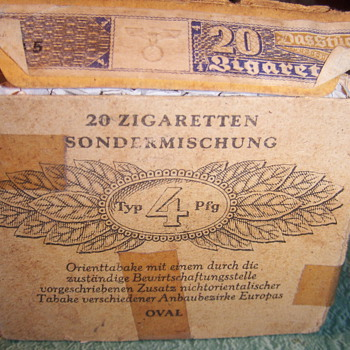 German cigeretts from soldier - Tobacciana