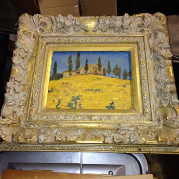 Lovely framed pastel painting of a Country house - Visual Art