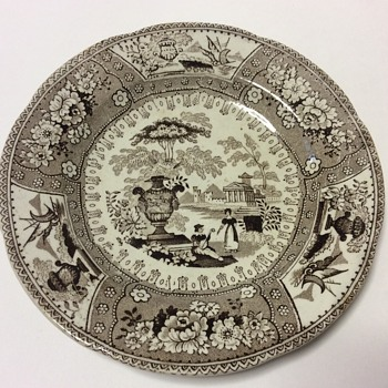 Transferware plate / saucer