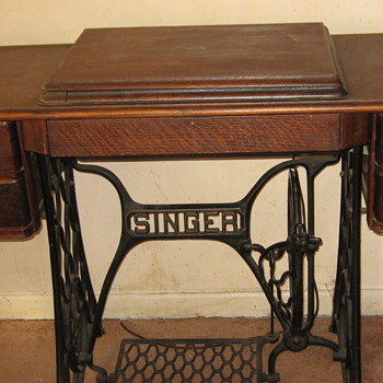 My antique Singer Sewing Machine with antique Singer Table  - Sewing