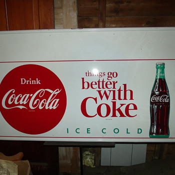Coke sign in my Barn