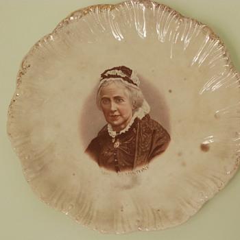 Mrs Gladstone plate