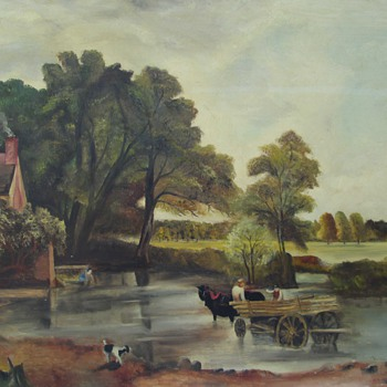 GE Adams Oil Painting, Dated 1951