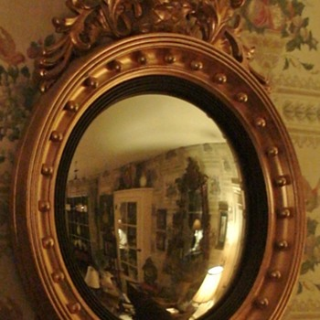 Vintage Reproduction Convex Federal Mirror - Furniture