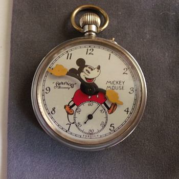 """""""Sevices"""" Mickey Mouse Pocket Watch"""