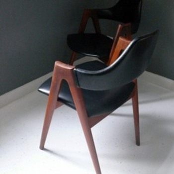 kai kristiansen flap back dining chairs
