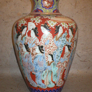 "imari vase/lamp base 18"" tall - Asian"