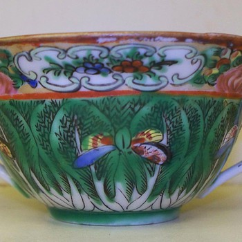 Double handle Tea Cup or Soup bowl - China- porcelain