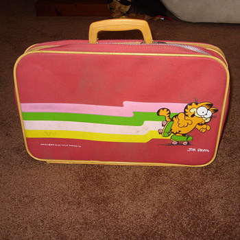 1978 jim davis garfield kids suitcase