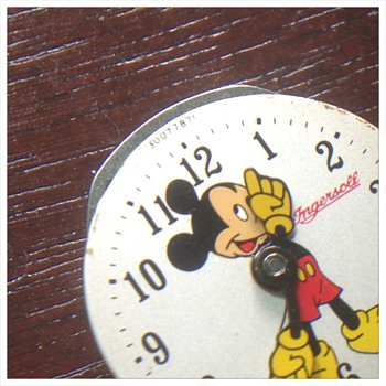Ingersoll 50s Mickey Mouse Watch (Number on Dial) - Wristwatches