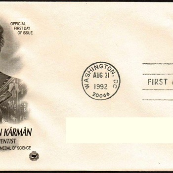 "1992 - ""Theodore v. Karman"" Stamp First Day Cover"