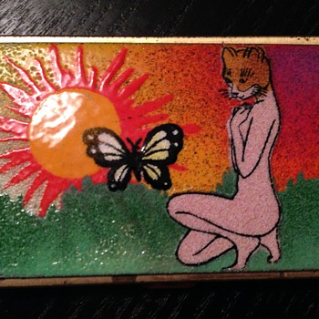 Enamel painted smokes/business card container?
