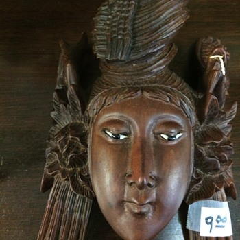 Asian Lady Wall Mask - Asian