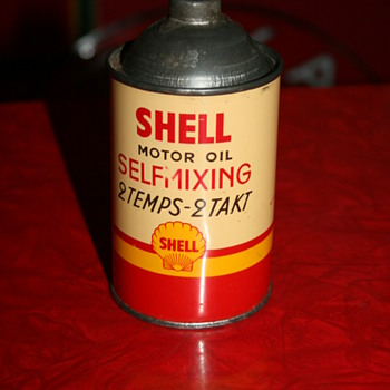 shell oil can - Petroliana