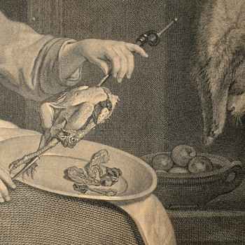 La cuisinière hollandoise; print; Jean Georges Wille after Gabriel Metsu, Paris, 1756 - Posters and Prints
