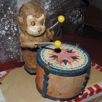 An Interesting Old Monkey Drummer - Toys
