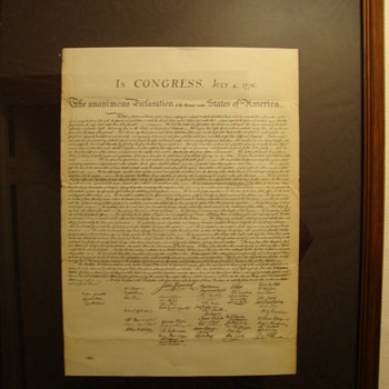 """Vintage"" Copy of~  "" The Declaration of Independence "" - Paper"