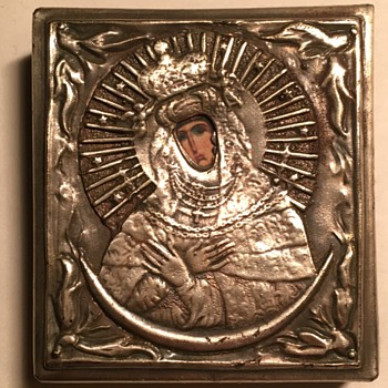 vintage mini embossed metal wall art with picture for face? - Visual Art