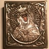 vintage mini embossed metal wall art with picture for face?