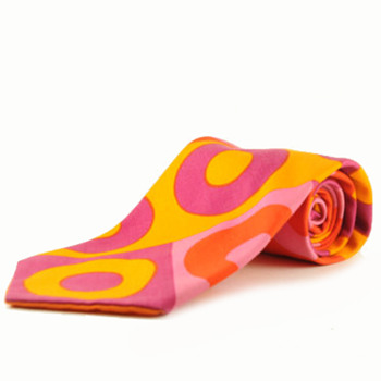 Vintage 1960's Psychedelic Fluorescent Necktie - Mens Clothing