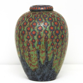 Large Revernay Vase (France), ca. 1900 - Art Pottery