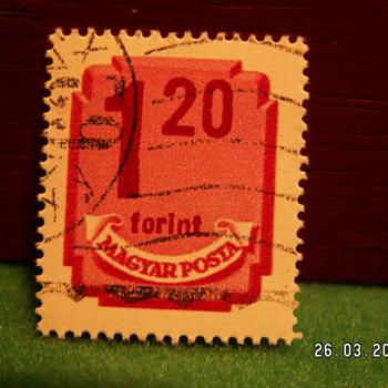 Vintage Magyar Posta 1 20 Stamp ~ Used - Stamps