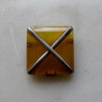 Half of a very nice applejuice bakelite buckle - Costume Jewelry