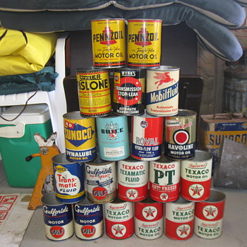 Old Oil Cans found! - Petroliana
