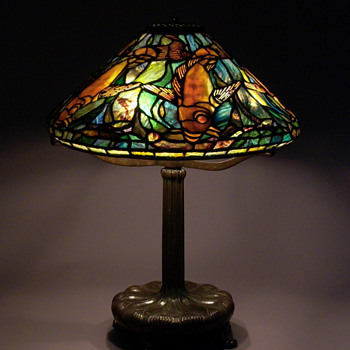 Tiffany Fishes Lamp  - Art Glass