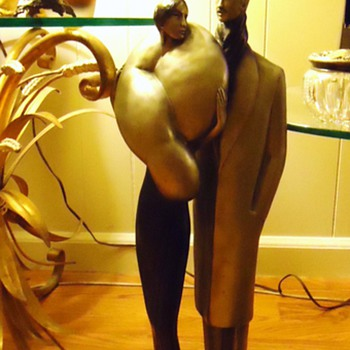 Art Deco  La Clere statue, 23 inches tall, weighs 16 pounds