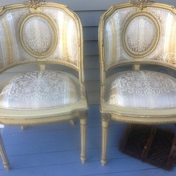 Neoclassical salon chairs
