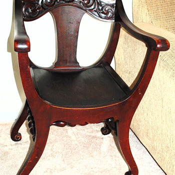 Curved Bottom Chair, Carved Apron - Furniture