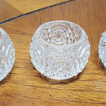 Set of 3 Glass Salt Cellars