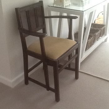 Dark oak chair