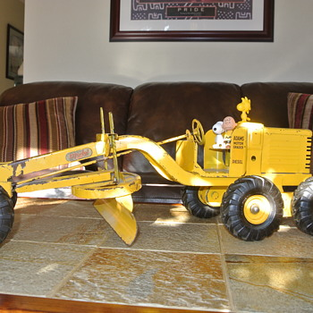 Unrestored 1951 Doepke Adams Road Grader 1:12 Scale... Over 2 feet long!! - Toys