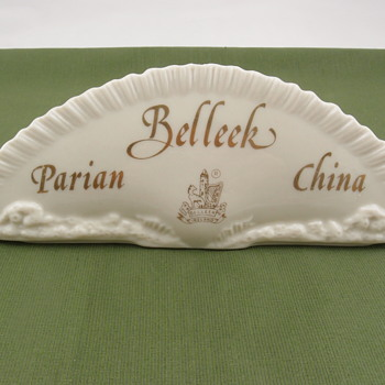 Belleek Parian China plaque - 7th mark - Art Pottery