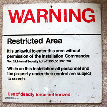 Air Force Restricted Area Sign - Signs
