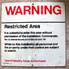 Air Force Restricted Area Sign