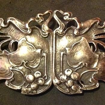 Horton & Allday art nouveau silver buckle.