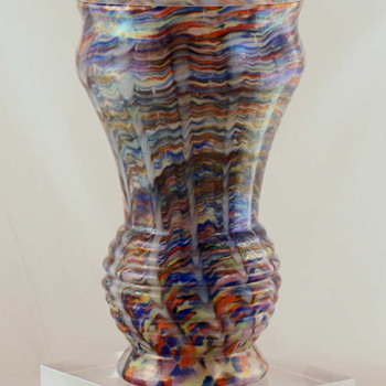 One of the Most Colorful Vases I Have Ever Purchased  -  Welz?  Maybe..... - Art Glass