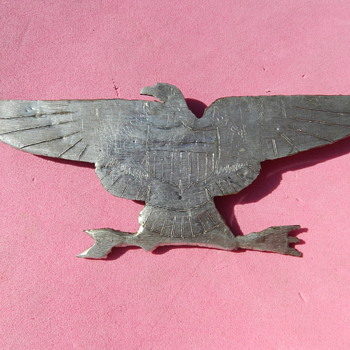 Korean War Trench Art - 1951 USS Princeton War Eagle Pin
