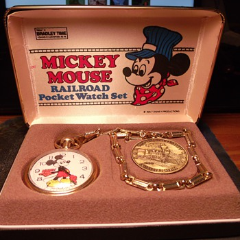 Railroad Collector Series Mickey Mouse Pocket Watch - Pocket Watches