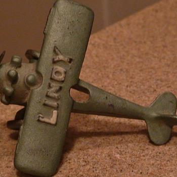 "Charles Lindbergh ""Lindy"" Plane Metal 4"" Length - Toys"