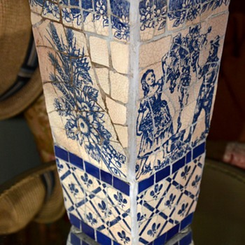 Beautiful Mosaic Flower Vase - Asian