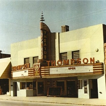 Photograph of Old Thompson Theater, Hawkinsville, Georgia