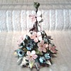 Little Spire of Capodimonte Flowers / Dogwood and Blue Bells / Circa 1960-80
