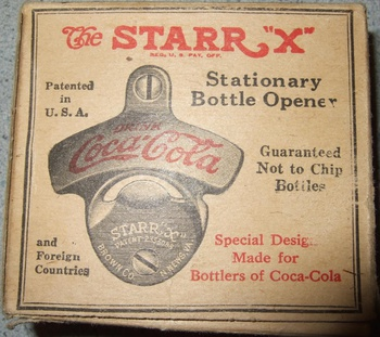 spanish starr coca cola stationary bottle opener. Black Bedroom Furniture Sets. Home Design Ideas